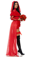 Red Beetle Bride Movie Character Costume
