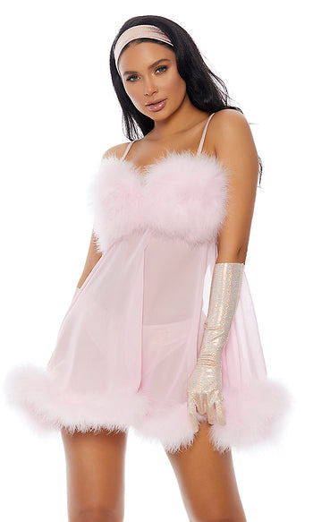 Baby Pink Femme Movie Character Costume