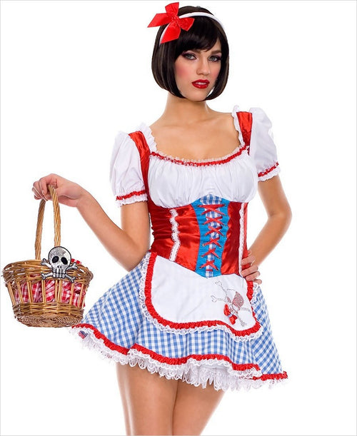 Dorothy Halloween Costume Red Wizard Of Oz Rhinestone Skull Extra Large 70231