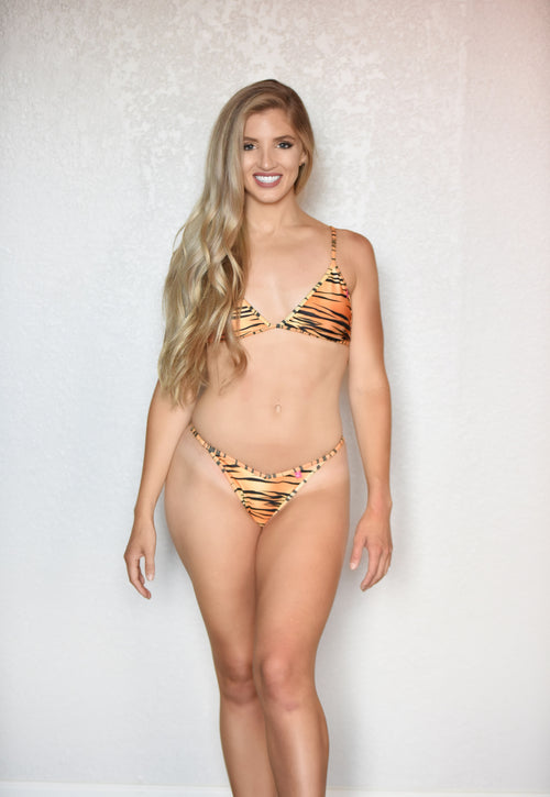 Sorrento Bathing Suit Animal Print Tiger Bralette