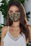 Leopard Face Mask Brown Cheetah Anti-pollution Cotton SHIPS FREE TODAY FROM USA
