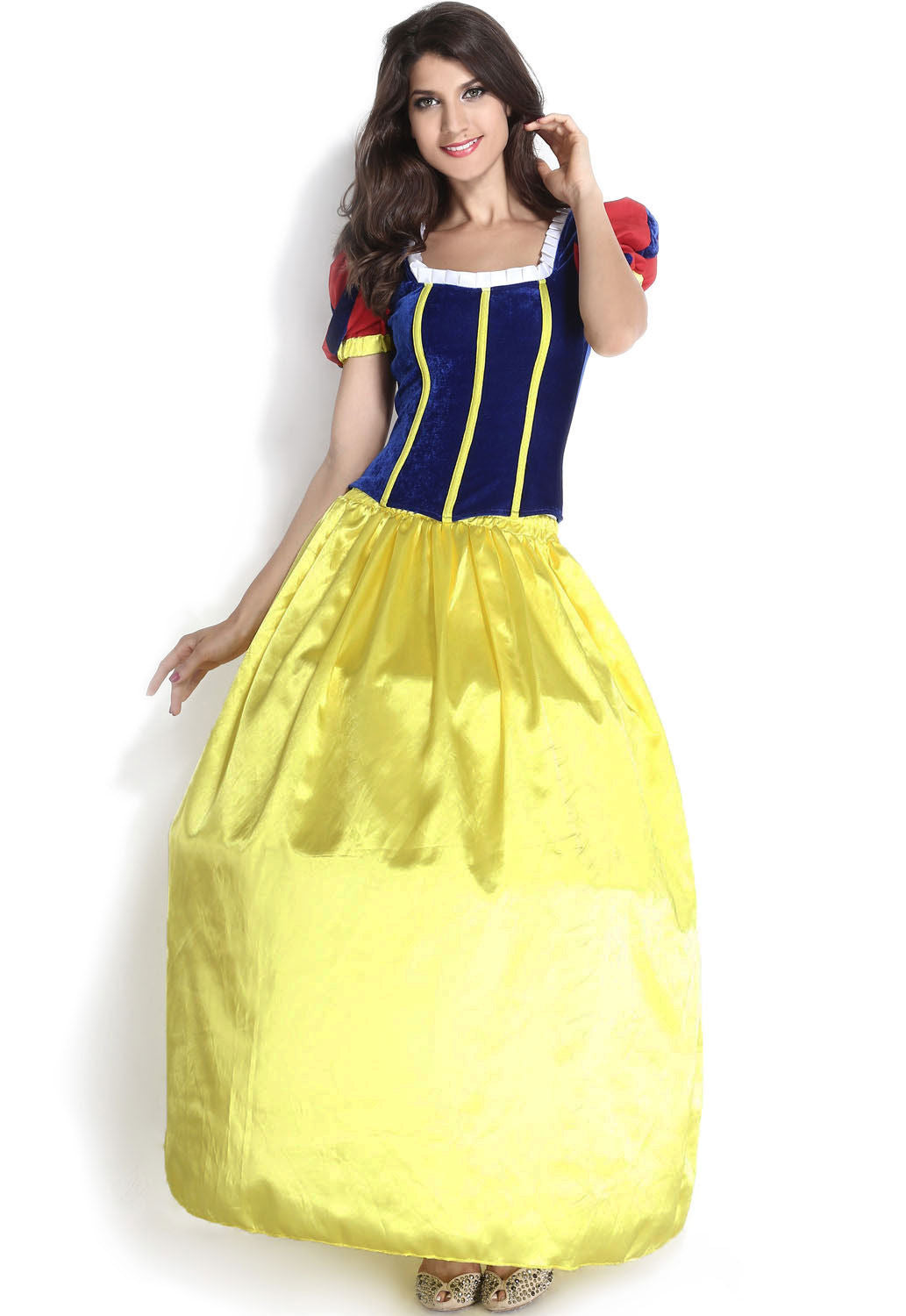 Snow White Princess Ball Gown Dress 3 Piece Halloween Costume Large ...