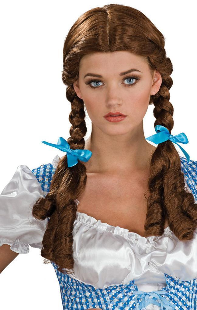 Dorothy Wizard of Oz Country Girl Pigtails Party Wig Halloween