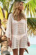 Oversize Knit Crochet Lace Coverup Tunic Dress Beach Pool 42177
