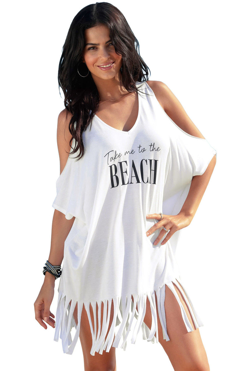 White Cover Up Take Me To The Beach Swimwear