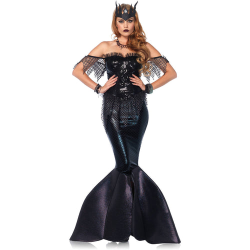 Dark Water Siren Mermaid Halloween Cosplay Costume 85536