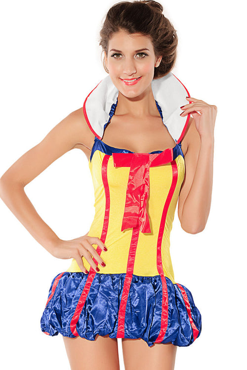 Snow White Halter Dress Disney Halloween Costume Princess One Size 8165