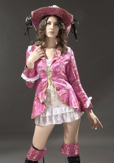 Pink Pirate Maiden Sexy Lolita Princess Buccaneer Halloween Costume Medium 8238