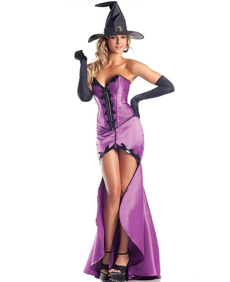 Hokus Pokus Heartthrob Witch Dress Gown Corset Skirt Halloween Costume 1407 S/M