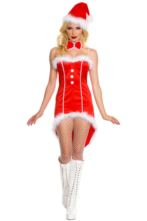Red Christmas Santa Tuxedo Costume Lingerie Role Play One Size 7239