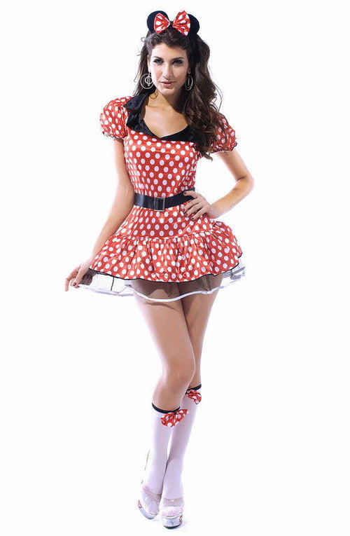 Minnie Mouse Dress Red White Polka Dot