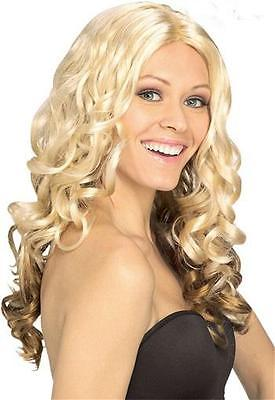 Goldilocks Blonde Brown Peekaboo Curly Sexy Halloween Party Wig 0144