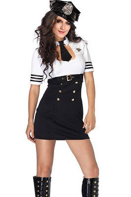 Air Marshal Halloween Costume Adult Cosplay Dress Hat Key Hole One Size 8846