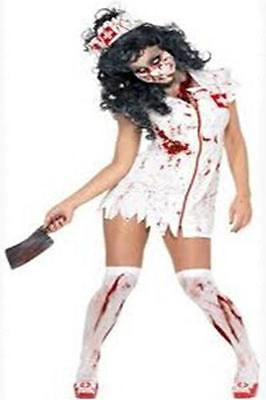 Zombie Nurse Halloween Cosplay Costume Blood Scary Dress Medical One Size 8831