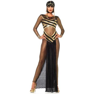 Nile Queen Egyptian Catsuit Dress Halloween Costume 85512 Size Medium NIB