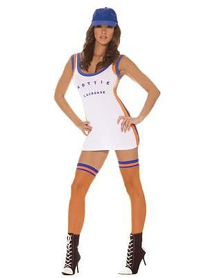 White Lacrosse Costume Adult Halloween Dress Up Sports Cosplay Dress  9281