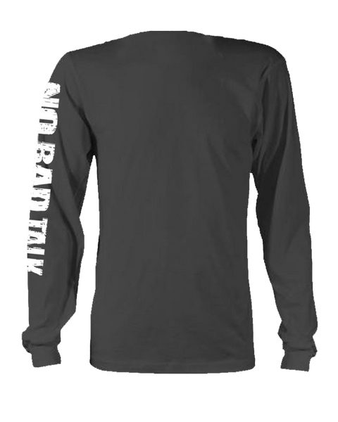 Black Long Sleeve Face Tee
