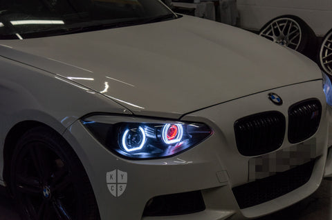 E90 LCI, E91 LCI (Halogen) - KYCS Custom Headlights - Fxx Angel Eyes