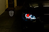 KYCS Gxx Angel Eyes (White) • Classic Blackout • Red Outer Demon Eye • LED Indicator  • Indicator Lenses Removed