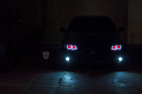 Custom Headlights For 3 Series - E9x M3 & E92 E93 Pre LCI (Xenon) - KYCS Fxx/BavGruppe Design Full DTM Angel Eyes