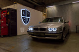 Custom Headlights For 7 Series - E38 (Halogen) - KYCS Exx Angel Eyes