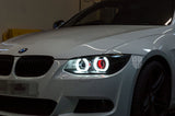 Custom Headlights For 3 Series - E92 E93 LCI (Xenon) - KYCS Fxx/BavGruppe Design Full DTM Angel Eyes