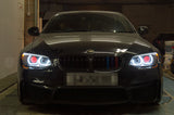 Custom Headlights - Made To Order: E92 E93 LCI (3 Series) With Xenon/Adaptive Xenon Headlights - KYCS Gxx/BavGruppe Design 3/4 DTM Angel Eyes