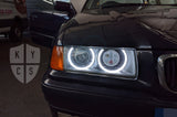 Custom Headlights For 3 Series - E36 (Halogen) - KYCS Exx Angel Eyes