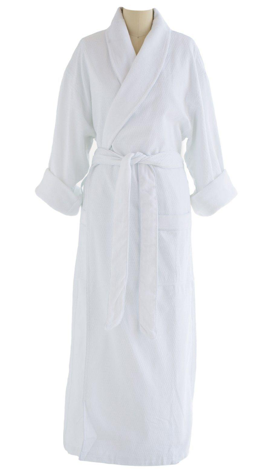 Diamond Jacquard Shawl Design Robe | Style: DJT7000 White