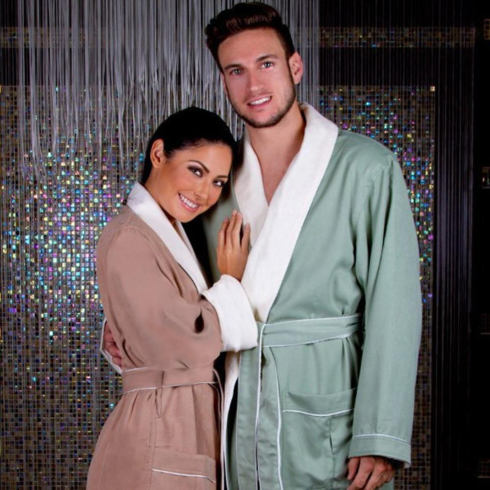 Brushed Microfiber Robe Lined in Terry | Style: DSM4000 - Luxury Hotel Robes