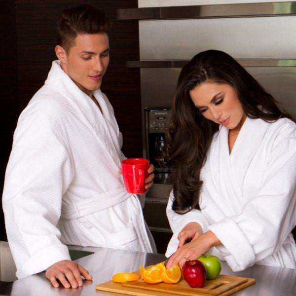 Diamond Jacquard Minx Lined Robe | Style: DJT7100 - Luxury Hotel Robes