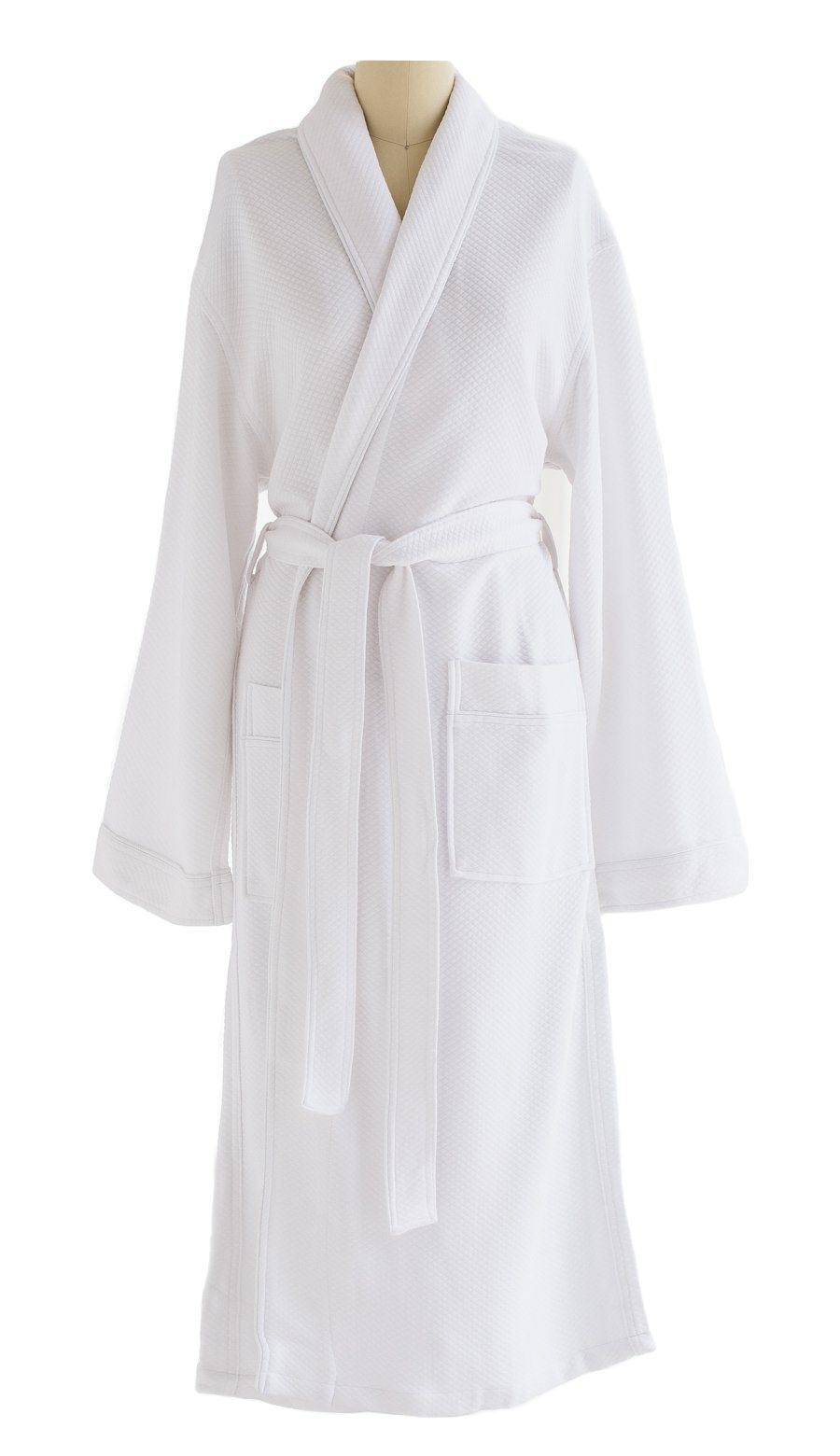 Pure Elegance Cotton & Modal Robe White Diamond