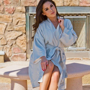 Microfiber Plush Kimono Robe with Minx Lining | Style: MPK3000 - Luxury Hotel & Spa Robes by Chadsworth & Haig