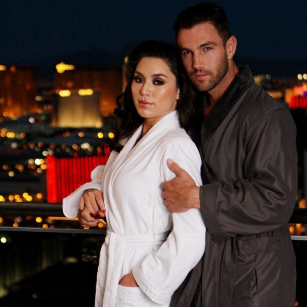 Microfiber Plush Robe with Minx Lining | Style: MPR3000 - Luxury Hotel Robes