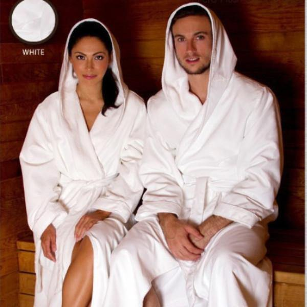 Microfiber Plush Robe With A Hood | Style: MPRH300 - Luxury Hotel Robes