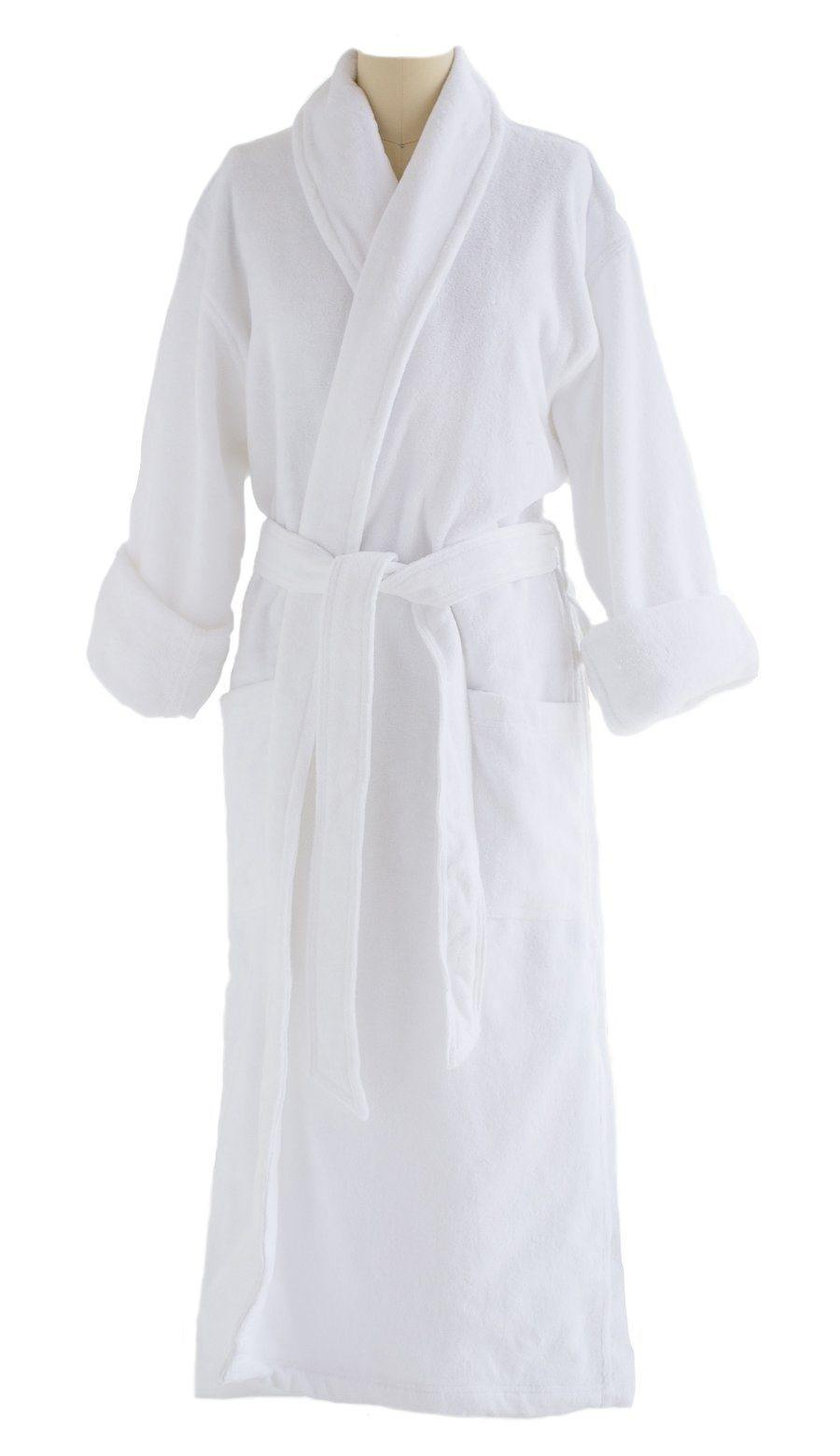 Terry Cloth Velour Robe | VTR2000 White