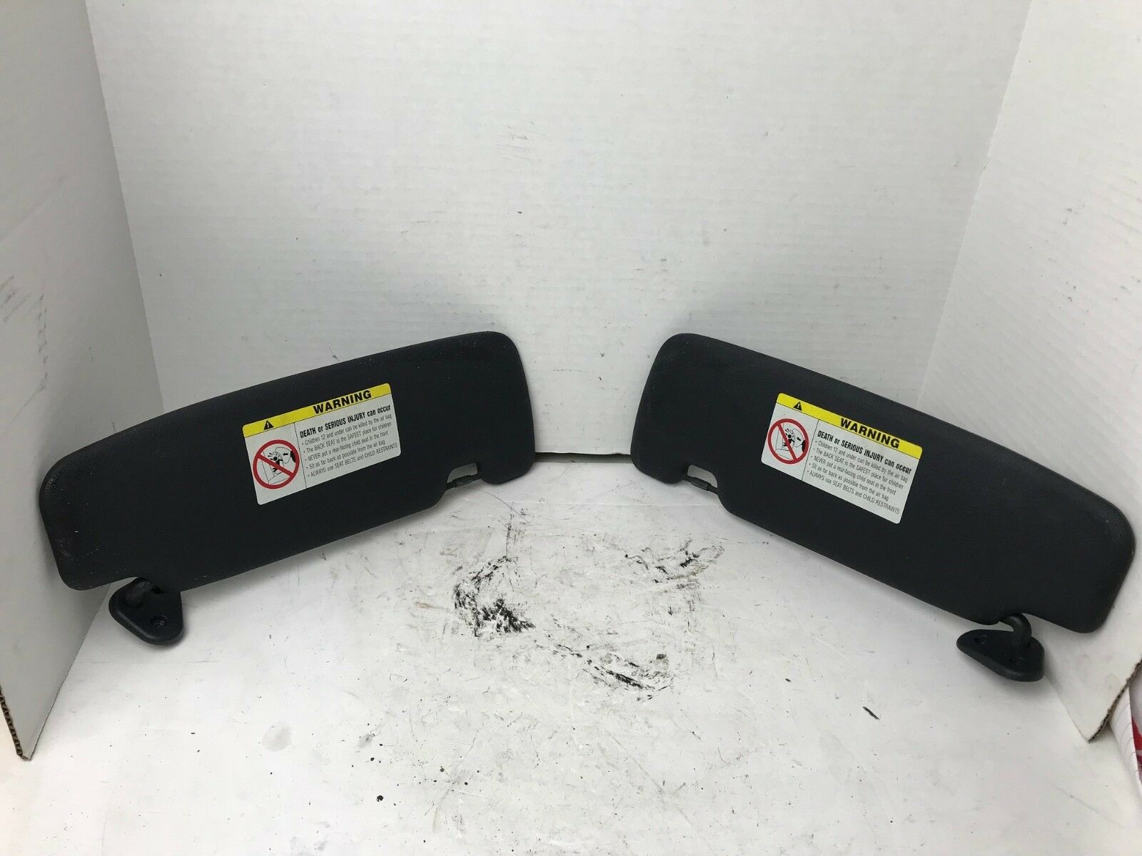 2005 2006 2007 2008 MINI COOPER S CONVERTIBLE SUN VISOR SET BLACK LEFT/RIGHT OEM