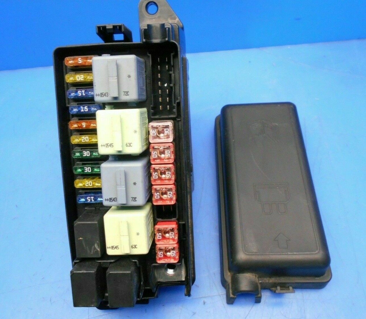 02-08 MINI COOPER R50 R53 FUSE RELAY BOX PANEL W/ COVER 690660405