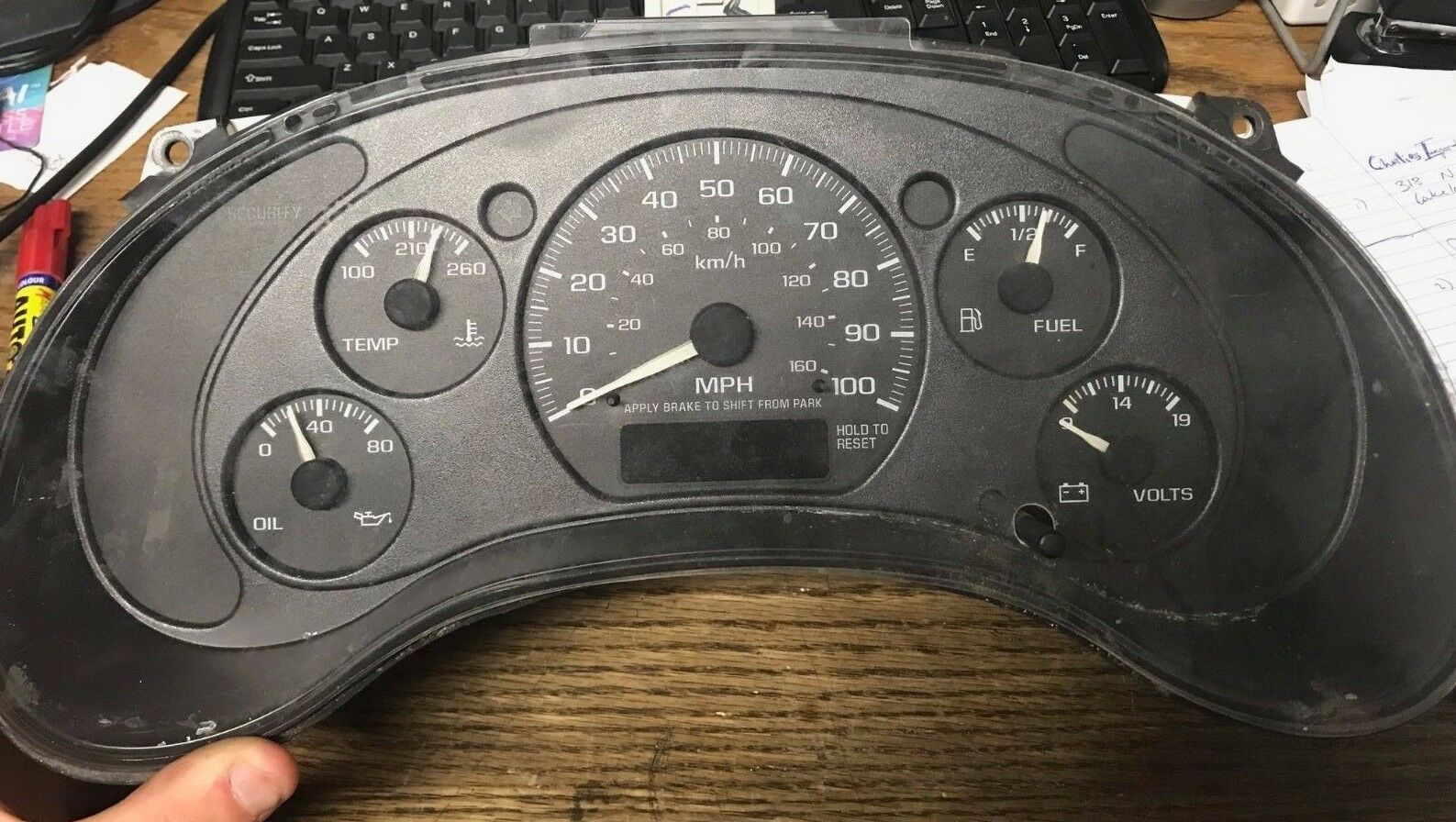 Speedometer Instrument Cluster Blazer Jimmy S10 Dash Panel Gauges miles unknown