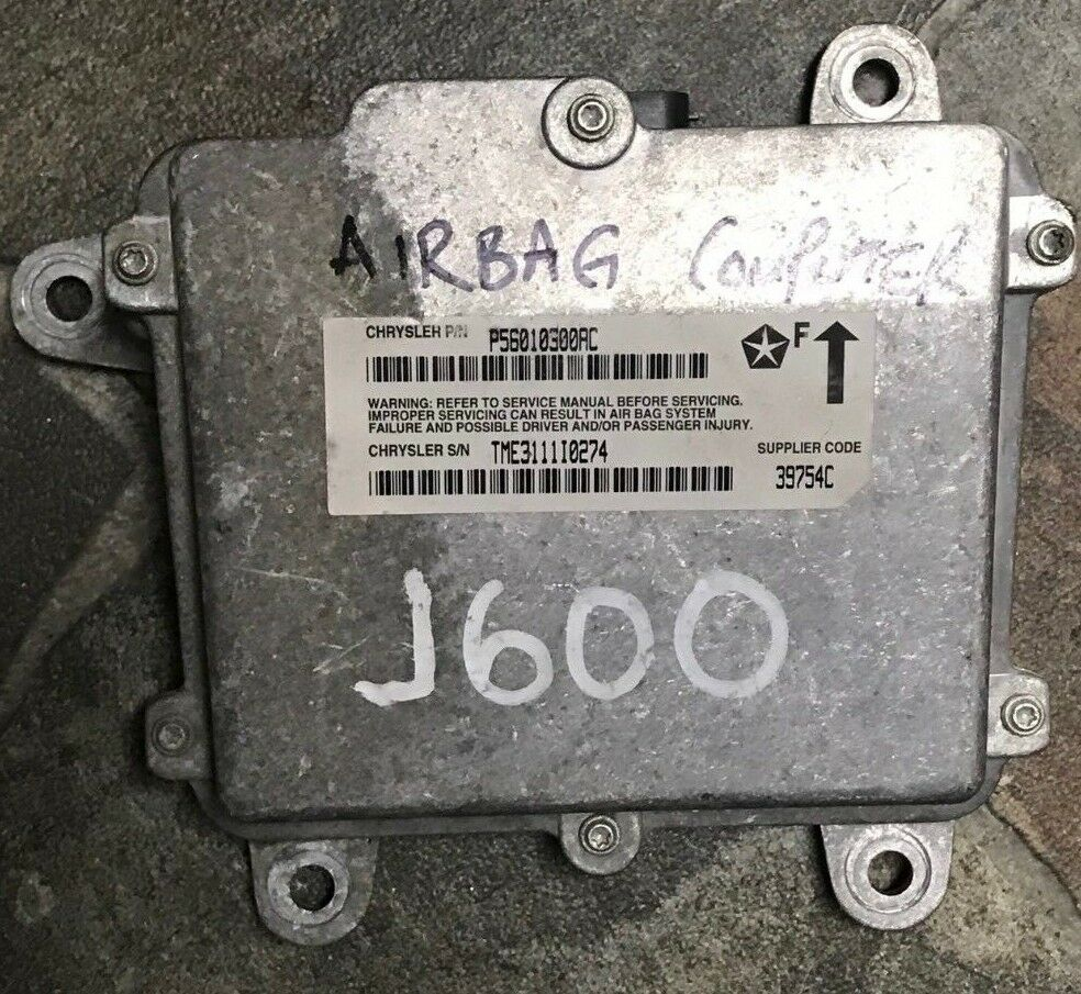 AIR BAG ECU ECM COMPUTER WRANGLER 877987 02 AIRBAG ECU GD BAGS P56010300AB