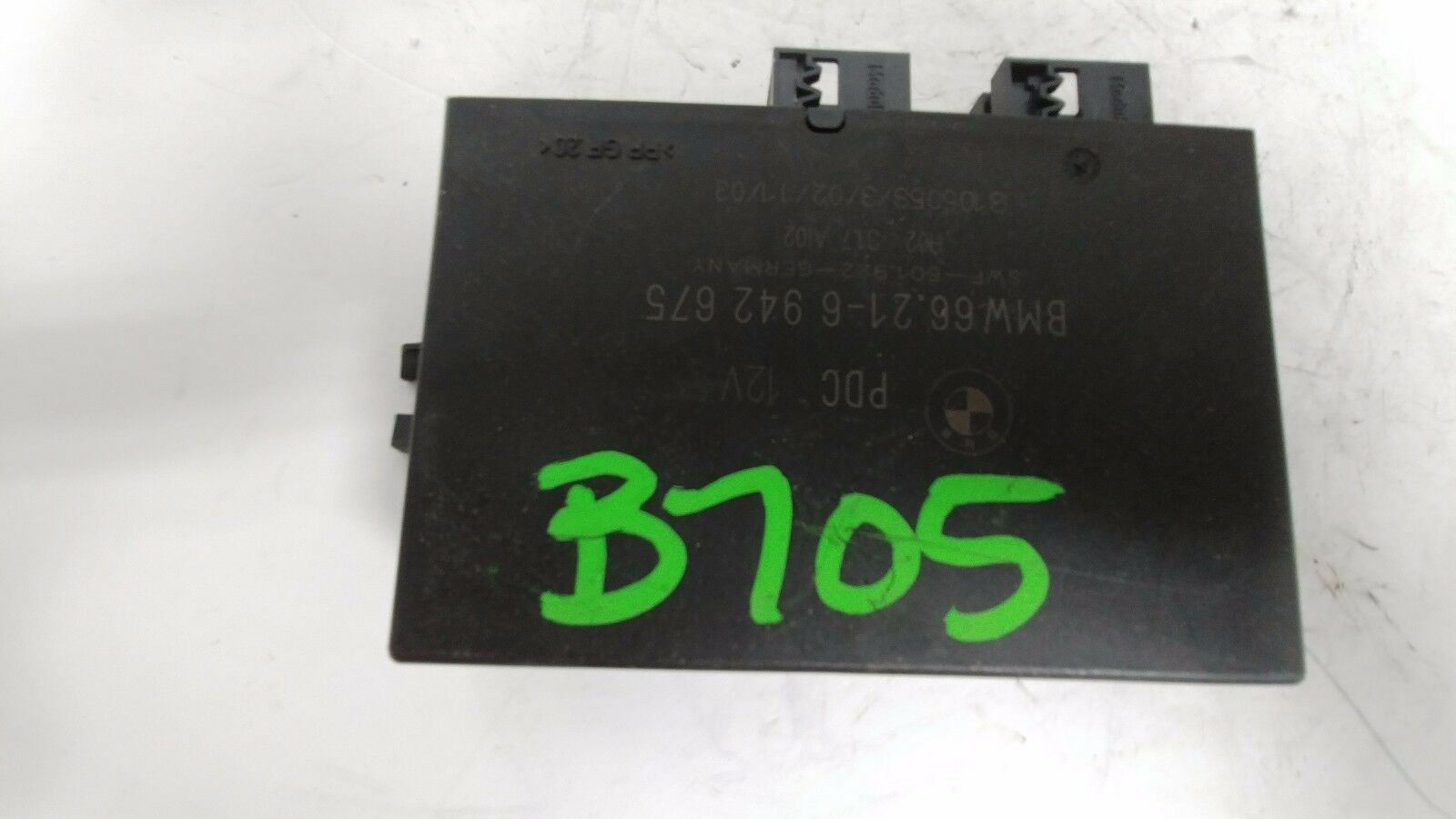 BMW PDC Park Distance Control Module 12V Part # 6621 6942675