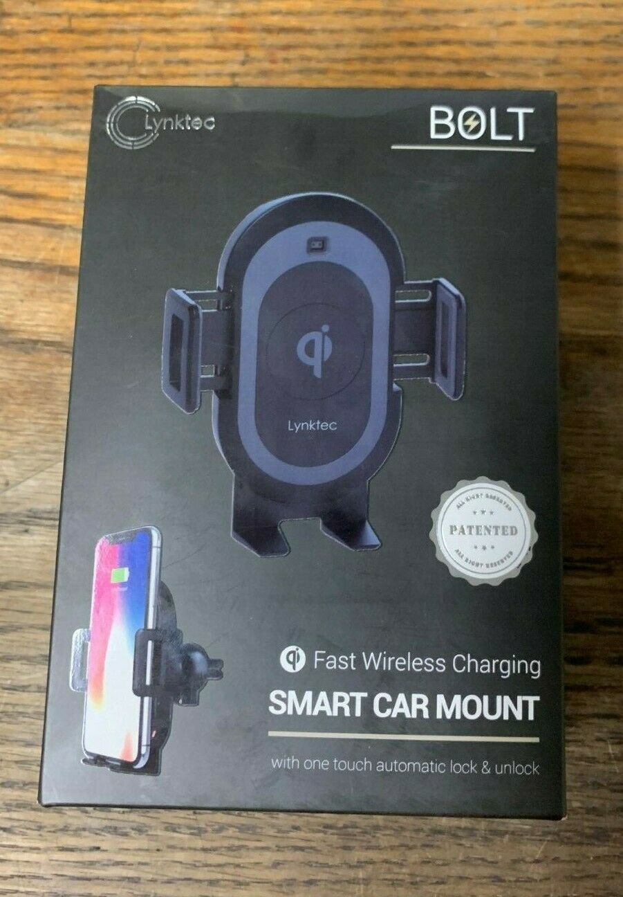 Brand New-- Bolt Smart Automatic Car Mount Qi Fast Wireless Charger