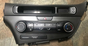 OEM 2014 KIA Optima Heater And A/C Control With Lower Center Dash Panel Silver