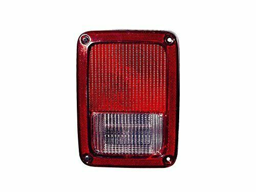 Halogen Tail Light For 2007-2017 Jeep Wrangler (JK)SET Clear/Red Lens w/Bulbs