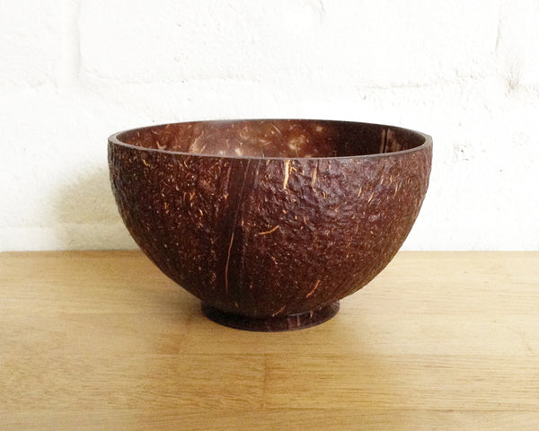 Coconut shell bowl - natural finish