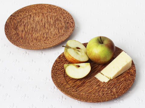 Coconut wood side plates