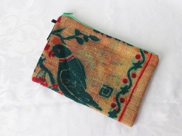 Hessian pouch - large; 5 colours