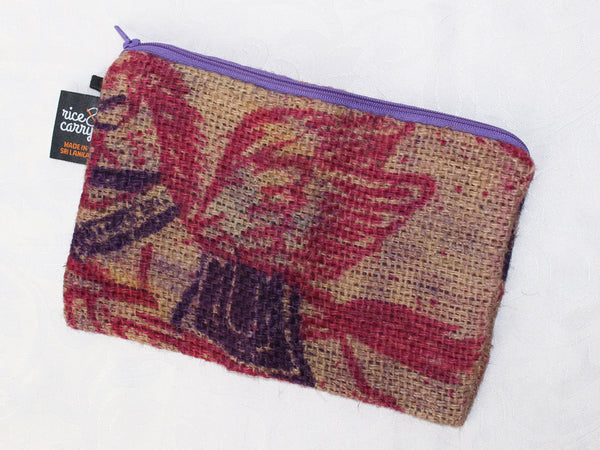 Hessian pouch - large; 4 colours