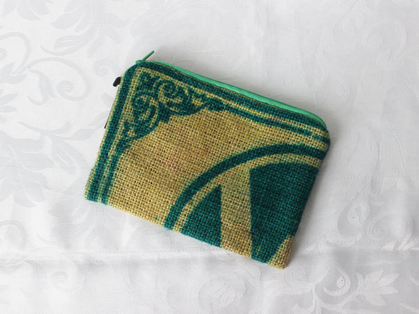 Hessian pouch - medium; 5 colours