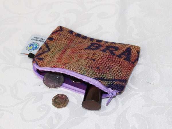 Hessian pouch - small; 5 colours